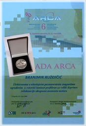 arca award branimir ruzojcic innovation gold medal